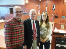 With Idaho Chief Justice Jim Jones and my colleague Kathryn.
